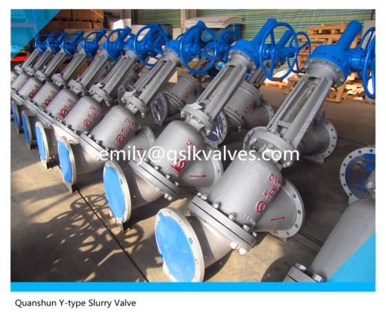 Sell Y type globe valve for slurry control