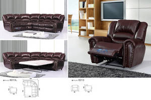 Wholesale recliner sofa: Modern Design Leather Sectional Recliner Sofa