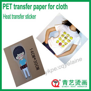 Wholesale diy transfer paper: Washable and Durable Cloth Sticker Heat Transfer Film