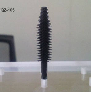 Wholesale hair mascara: Wholese Qizi Black Bristle Custom Oval Nylon Hair Cosmetic Makeup Mascara Eyelash Brush Case OEM Odm