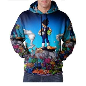Wholesale Other Apparel: Black Goku Dragon Ball Full Print Sublimation Men Zipper Hoodie