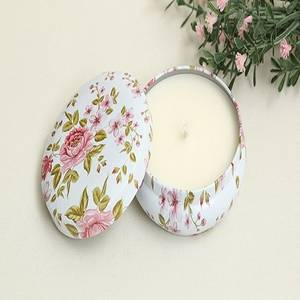 Wholesale synthetic wax: ANGE Blooming Tin Candle - Aroma Candles