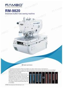 Wholesale dahao: Electronic Button Hole Machine