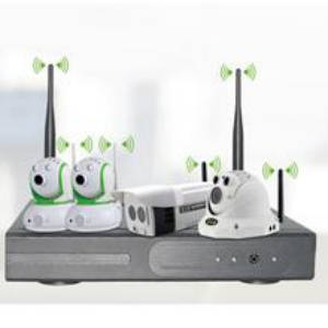 Wholesale CCTV Products: 4CH 1080P Wireless NVR Kits 5.8GHz