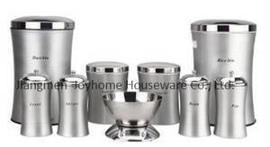 Wholesale iran: 9pcs Slim Storage Bin Set Stainless Steel Dowry Set for Iran