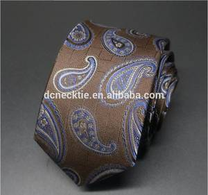 Wholesale Ties & Accessories: Fashion Brown Paisley Tie