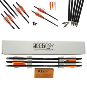 Wholesale Other Sports & Entertainment Products: 20 Inch REEGOX Bio Carbon Crossbow Bolts Arrow with 4 Inch Vanes