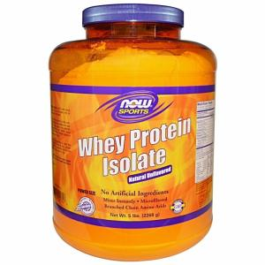 Wholesale whey: Now Sports Nutrition Whey Protein Isolate Powder, Unflavored, 5-Pound
