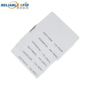 Wholesale chip card: Blank White 125Khz TK4100 Chip Rfid Smart Card for Access Control