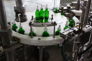 Wholesale Packaging Machinery: Reliance 2 Oz Glass Dropper Bottle Filling Capping Labeling Machine