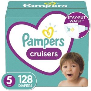 Wholesale disposable baby diapers: Pampering  Cruisers Disposable Baby Diapers  Size 5, 128 Count