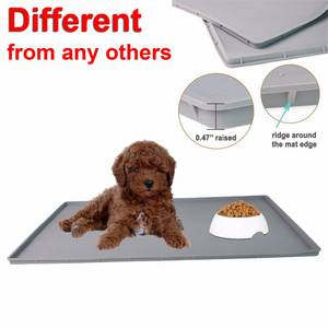 Wholesale Placemats & Coasters: RENJIA Training Cat Litter Silicone Dog Mat Cooling Feeding Food Bowl Silicone PET Mat