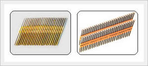 Wholesale round nail: Plastic Collated Round Head Strip Nails