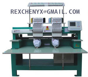 Wholesale flat embroidery machine: New Double Head Flat/Cap/T-shirt Embroidery Machine/Multi-Head Computerized Flat Embroidery Machine