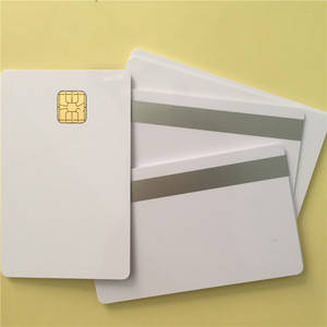 Wholesale contact chip card: PVC Blank Card SLE4428 Chip Contact Big Chip Smartcard