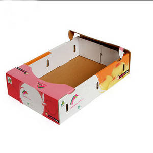 Wholesale duplex board: Wholesale High Quality Printed Corrugated Fruit Packaging Box Manufacturer
