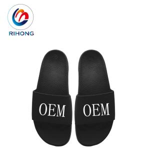 Wholesale slippers: Fashionable Anti-slip PU Sole Colorful Printed Lady Custom Slipper OEM