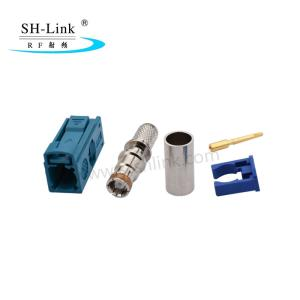 Wholesale pcb rf coaxial: Fakra Z Crimp Jack Female Connector Waterblue Coding for RG174 RG316 Cable