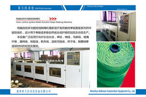 Wholesale auto control system: Auto Control System Multi-function Rope-Making Machine