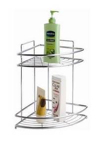 Wholesale bathroom rack: Two-tier Bathroom Corner Rack