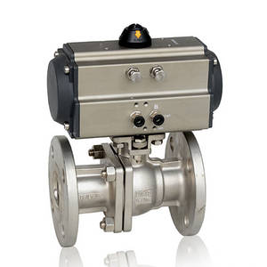 Wholesale pneumatic valve: Double Acting / Single Acting Pneumatic Flanged Ball Valve