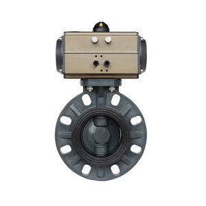 Wholesale spring return: Double Acting / Spring Return Pneumatic PVC Wafer Butterfly Valve