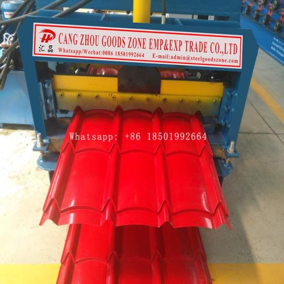 Sell Myanmar European Steel Metal Glazed Tile Span Roofing Sheet Forming Machine