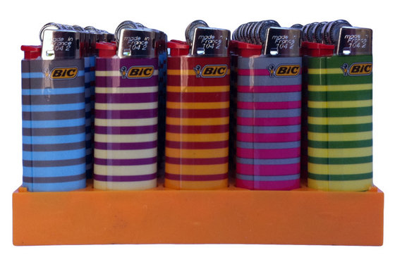 50pcs/ Tray Brand New Maxi BIC Lighters Wholesale (Assorted Color Lighters)