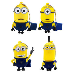 Wholesale cartoon usb: Factory Wholesale Cartoon Small Yellow U Disk 2G4G8G Creative Gift USB Can Be Customized Mold Compan