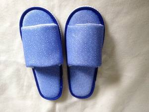 Wholesale poly printed woven: Hotel Disposable Slipper