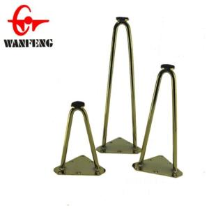 Wholesale h250: Custom Made Metal Bronze Hairpin for Coffee Table Legs