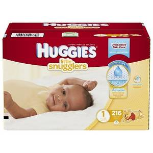 Wholesale girl's wear: HUGGIES Little Snugglers Baby Diapers Size 1 216 Count