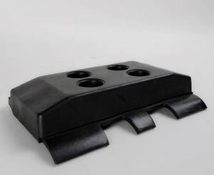 Wholesale rubber pavers: VOGELE DYNAPAC Paver Track Pad, Rubber Steel Plate Track Pad