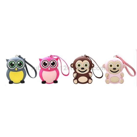 FAMA Audited Factory Customize Funny Zipper Pouch Silicone Animal Coin Purse