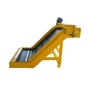 Wholesale steel belt: Steel Hinged Belt Chips Conveyor