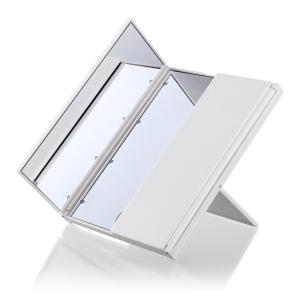 Wholesale handbag mirror: High Quality Tri-fold 8 LED Light Touch Screen Stand Vanity Makeup Mirror 3 Colors