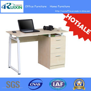 Wholesale computer desk: Hotsale 1.1m Melamine Computer Desk with Drawers