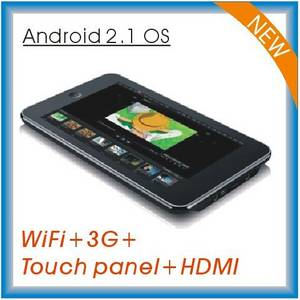 Wholesale 7 inch tablet pc: 7 Inch Android 2.1 Tablet PC with HDMI Output (RS705)