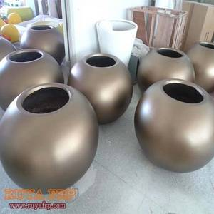 Wholesale flowerpot: RUYA Fiberglass Bowl Interior Hotel Decorative Planters,Polyresin Flowerpot Customized China Planter