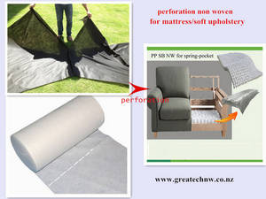 Wholesale decorative pillow cases: Perforated Spunbond Nonwoven Fabric for Mattress