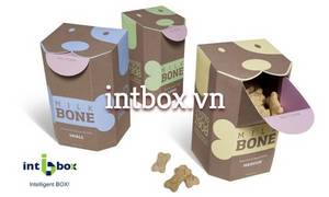 Wholesale Paper Boxes: Paper PET Food Box, Dog Treats Packaging Box with Creative Design