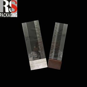 Wholesale custom packaging: Customized Clear Square Bottom Plastic Cellophane Bag for Coffe Packaging