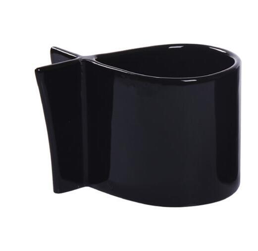 Professional Supply Special Shaped Ceramic Mug Fish Shape Cup