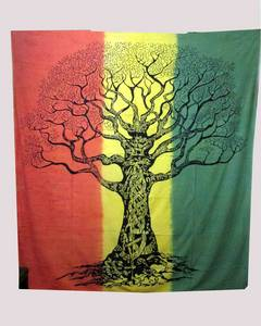 Wholesale curtain: Indian Cotton Dry Tree Boho Tapestry Wall Hanging.