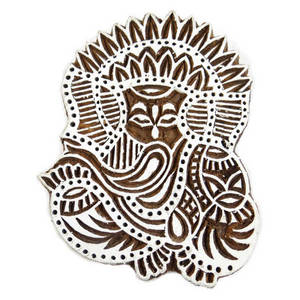Wholesale handicrafts: Handcarved Stamp Indian Wooden Printing Block Art