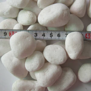 Wholesale Cobbles & Pebbles: Snow White Pebble Stone