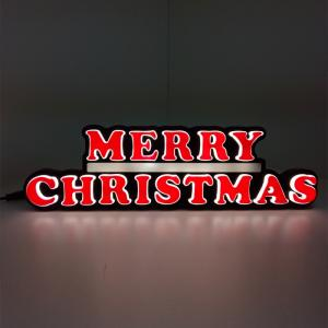 Wholesale led sign letter: Minimum 15 Cm Merry Christmas Mini Neon Letter Sign LED