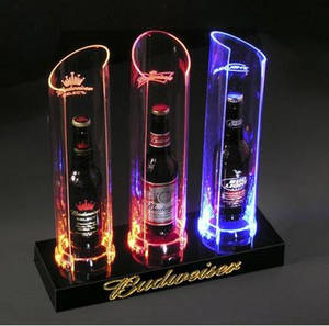 Wholesale wine rack: Customed LED Acrylic Wine Rack by Professional Manufactuer in Guangzhou