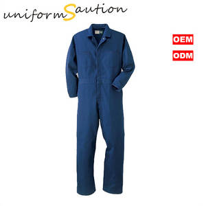 Wholesale reflective shirts: Custom 100%cotton Blue Workwear Coverall