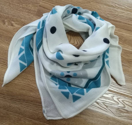 Sell Fancy Brush Printed Square Acrylic Scarf